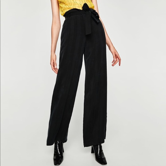 308ee485 Zara Pants | Sold Black High Waist Wide Leg Trousers | Poshmark